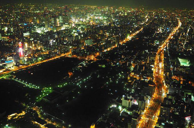 夜が特にオススメ!宝石箱をひっくり返したかのような大阪の夜景