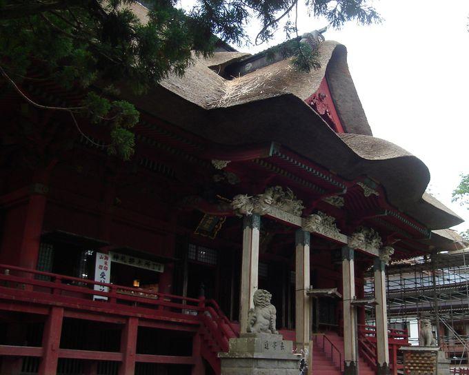 月山・羽黒山・湯殿山の神々を祀った三神合祭殿