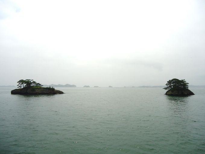 遊覧船のお勧めは塩釜から松島に入る「芭蕉コース」