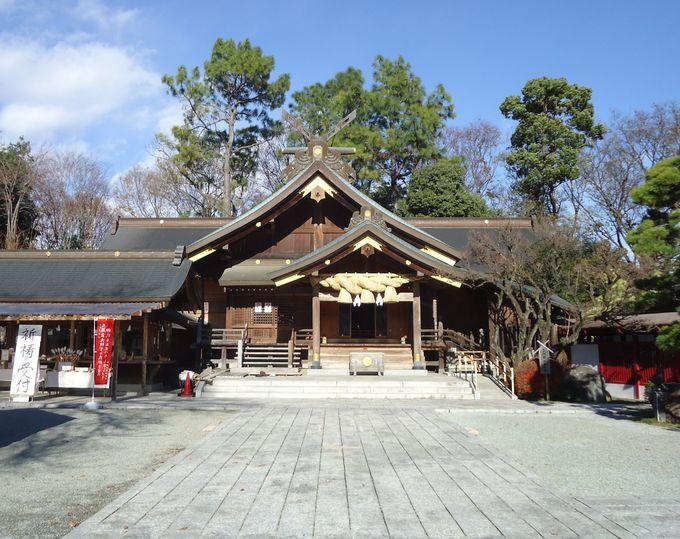 清々しいパワースポットの境内と本社の小型版拝殿