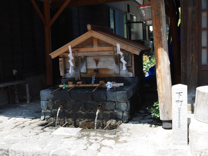 防災の役割も…町中に設けられた風情ある水場