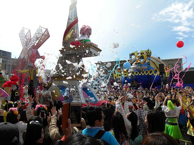 パレードを1度で2度楽しんじゃえ!