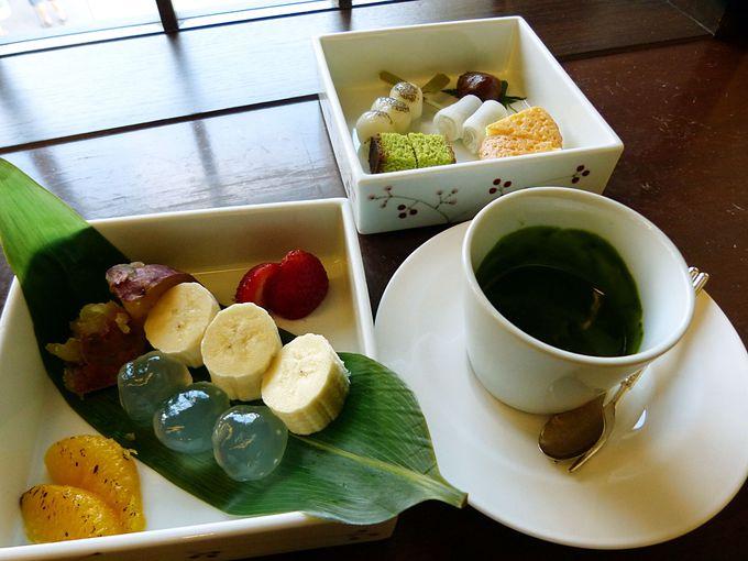 京洋菓子司ジュヴァンセルの抹茶フォンデュ