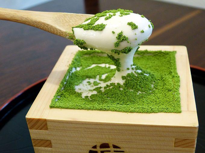 仕上げは「MACCHA HOUSE京都河原町店」の抹茶ティラミス