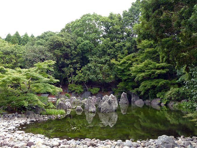 イベント後は日本庭園散策