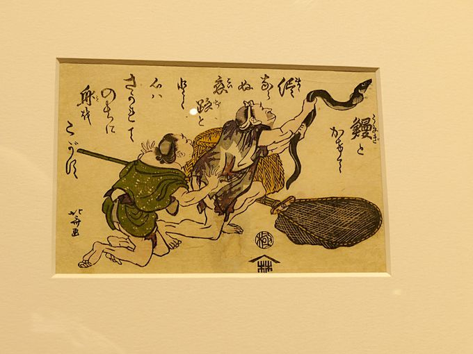 浮世絵師、葛飾北斎の戯画