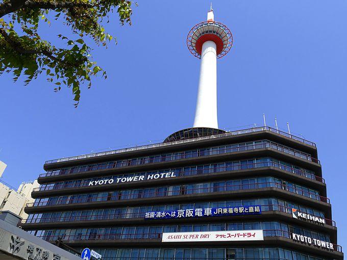 京都タワーのオシャレなエントランス京都タワーサンド
