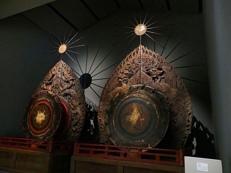 だ太鼓の修復が完了!奈良の春日大社の国宝殿に圧倒的存在感