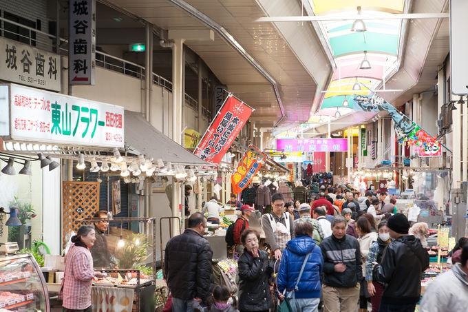 湊川市場をブラブラ歩いてみてください
