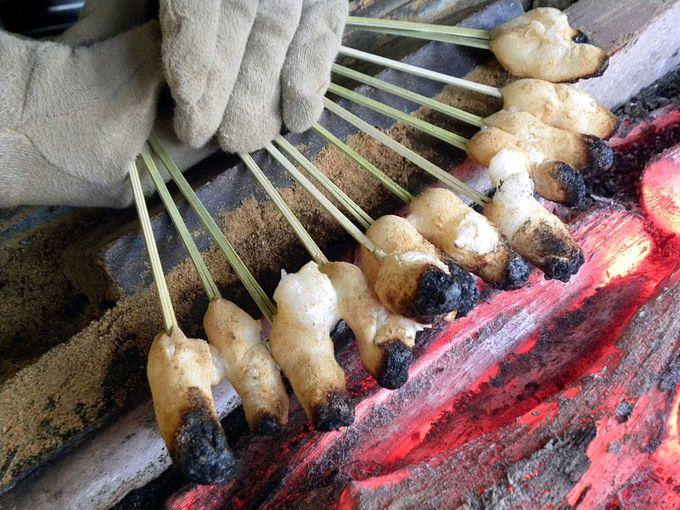 今宮神社で一文字屋和助のあぶり餅