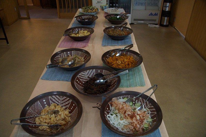 「つるぎの宿 岩戸」で山菜料理を満喫