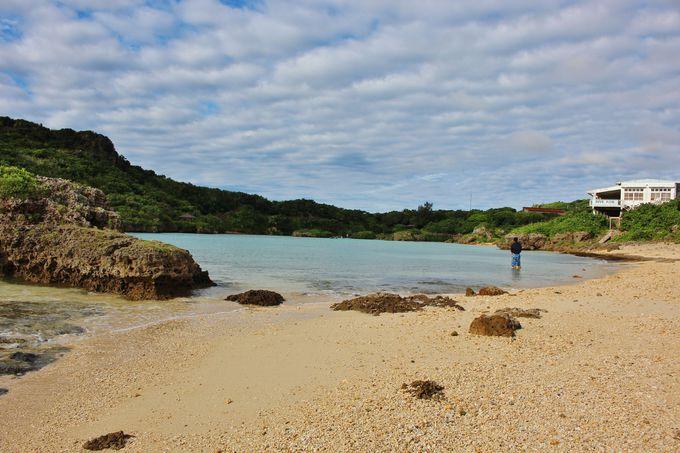 常に穏やかなビーチは子連れに最適!