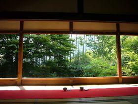 静寂に包まれた額縁庭園を味わう。京都大原「宝泉院」