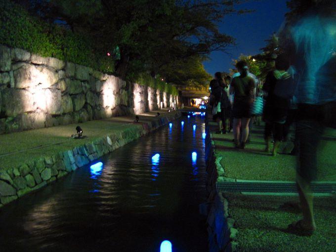 約30分の光の散歩へ「堀川会場」