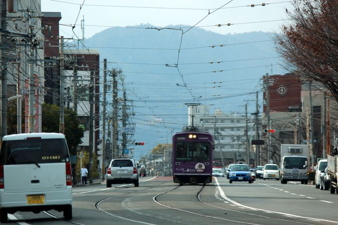 京都唯一の路面電車区間