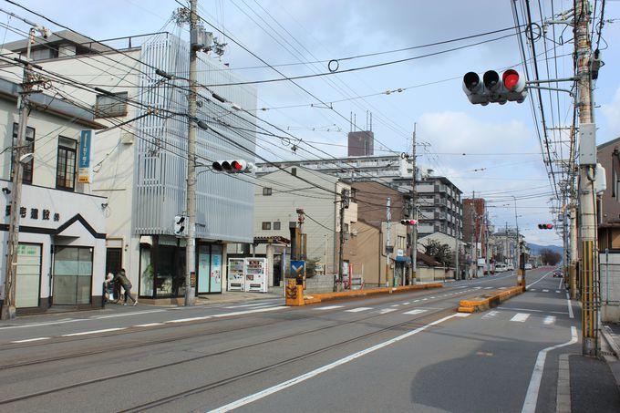 路面電車区間にある「山ノ内駅」