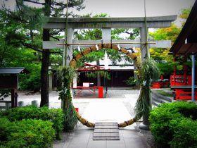 「茅の輪くぐり」が1か月間できる!京都・車折神社で夏越しの祓い