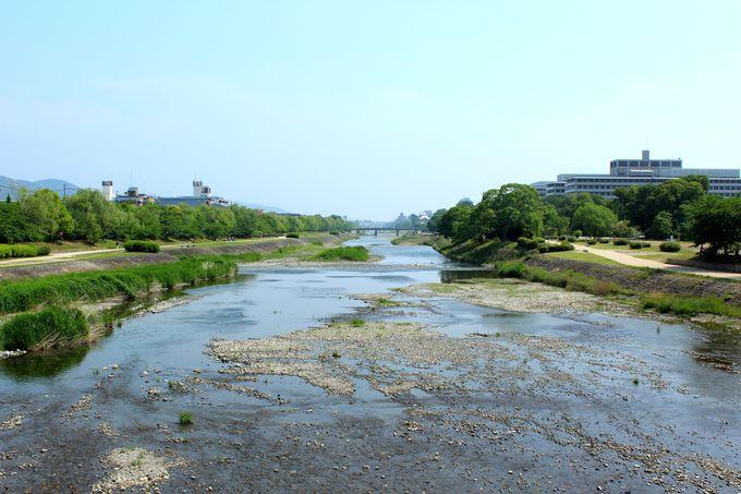 京都の代表的河川『鴨川』の出発点。