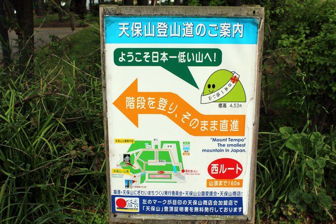 天保山登頂への道!(笑)