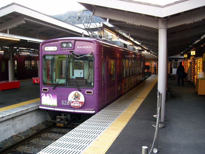 嵐山観光の拠点、嵐電・嵐山駅