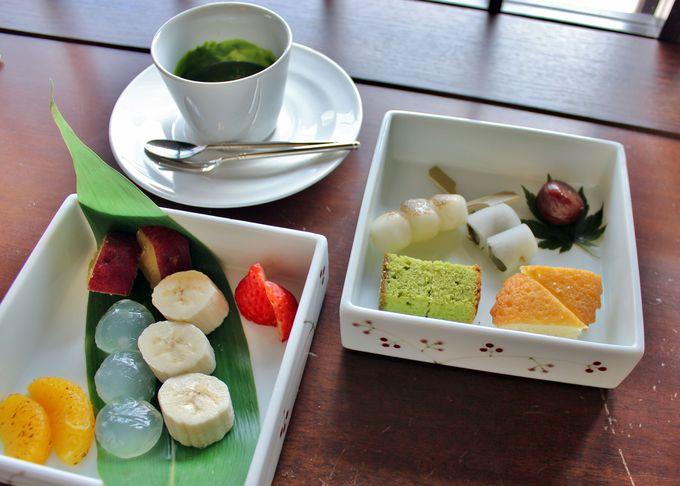 濃厚抹茶の和スイーツ『祇園フォンデュ』
