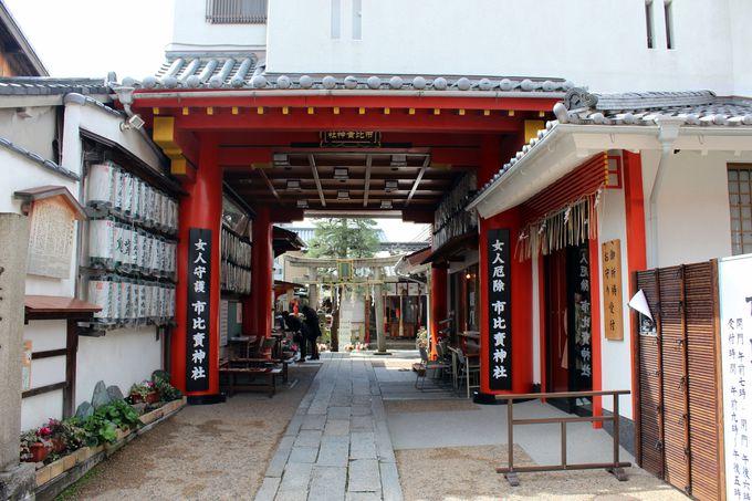京都駅から徒歩15分:市比賣神社