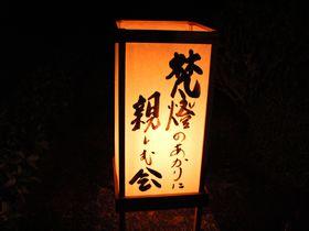 妙心寺東林院「梵燈のあかりに親しむ会」は日本一暗いライトアップ!