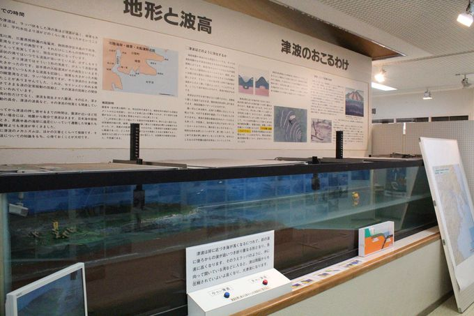 「唐桑半島ビジターセンター」の常設展示