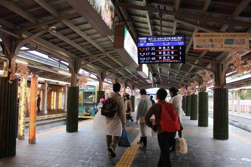 ファン必聴!嵐電「嵐山駅」の場内アナウンスが・・・倉木麻衣?