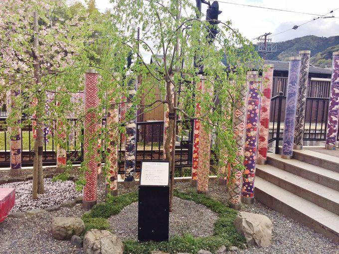 嵐電嵐山駅・さくらの庭に・・・