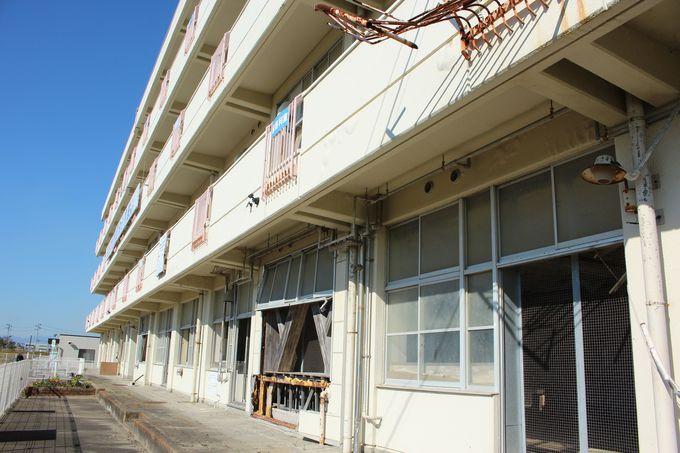 震災遺構として復活した荒浜小学校