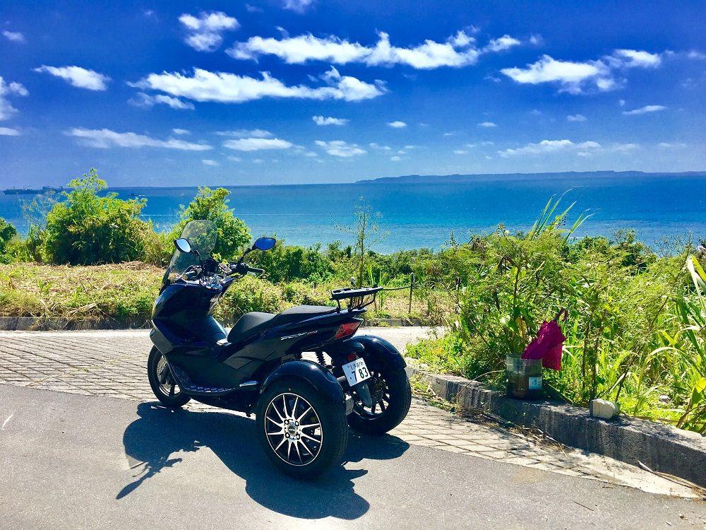 観光に飽きたら冒険だ!トライク体験 in 沖縄!海を渡って離島へ行こう