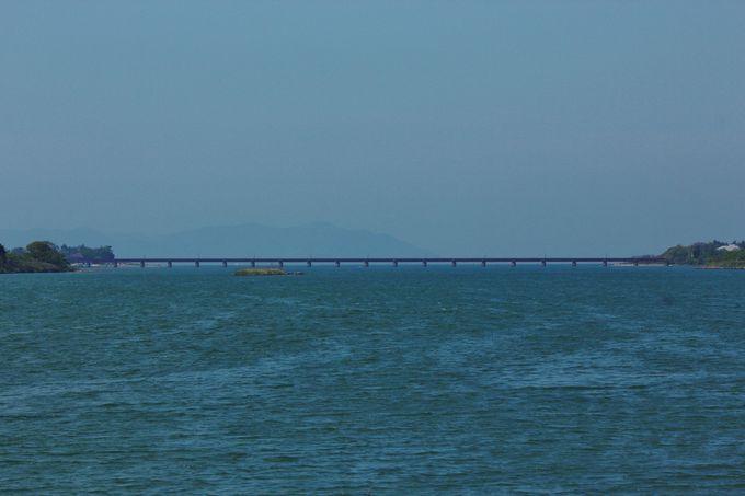 由良川の流れとその河口に広がる神崎の浜