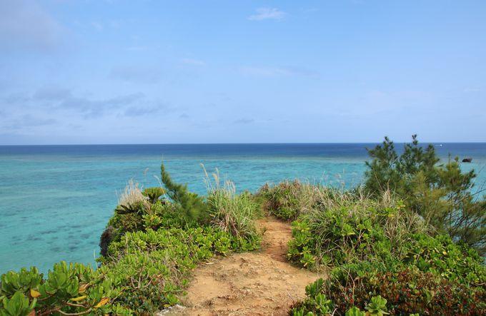 ザネー浜を見下ろす崖から映えるショットを狙え!