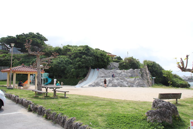 地元民の憩いの場 泊城公園