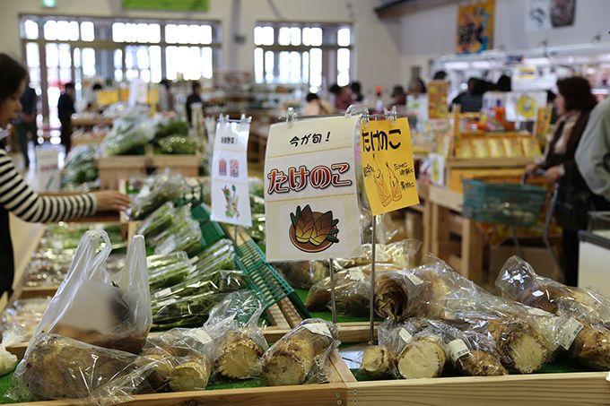 朝採れの新鮮な能登野菜が並ぶ「産直館 織姫市場」は最大の魅力!