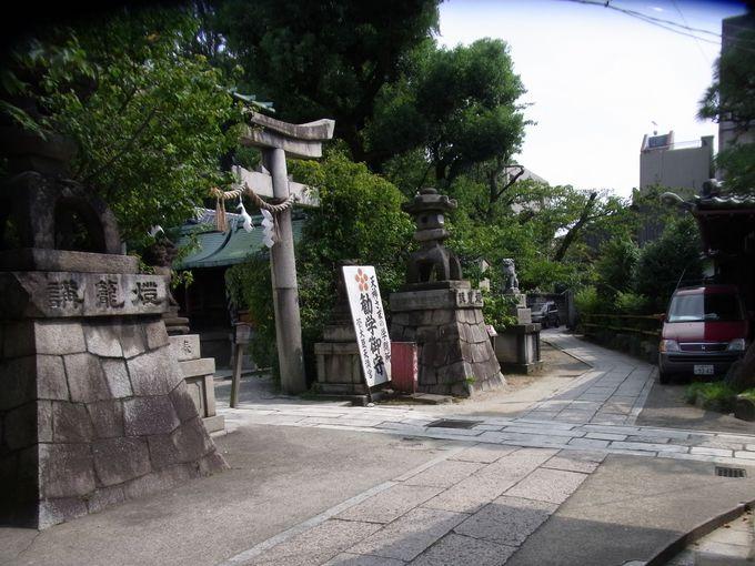 道真の邸宅跡に建てられた菅大臣神社
