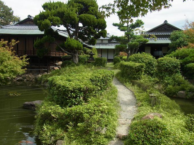 庭園をめぐり茶室へと至る道行きは日常から非日常への通過儀礼
