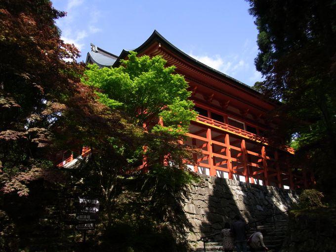 舞台づくりの横川中堂