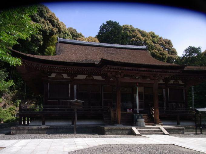 貞観期の艶麗な十一面観音を秘蔵。国宝の本堂を擁する長弓寺