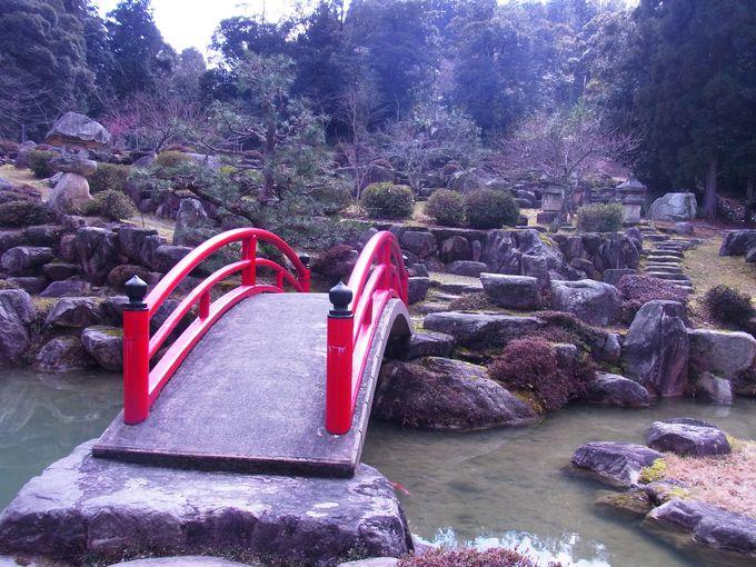 見事な日本庭園が広がる水尾神社