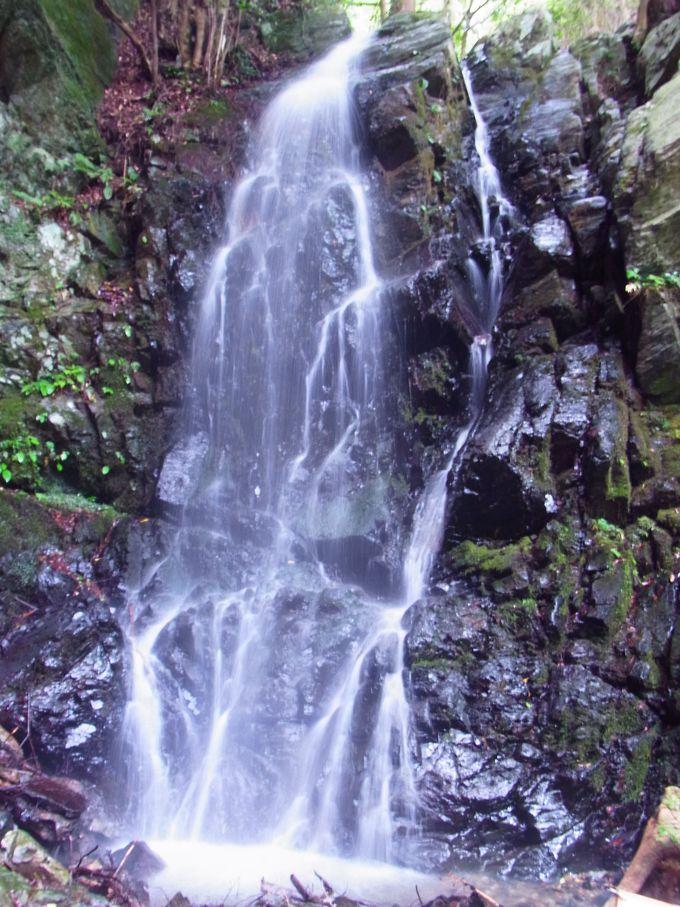 鷲峰山金胎寺の最奥部に人知れずしぶきをあげるかくれ滝