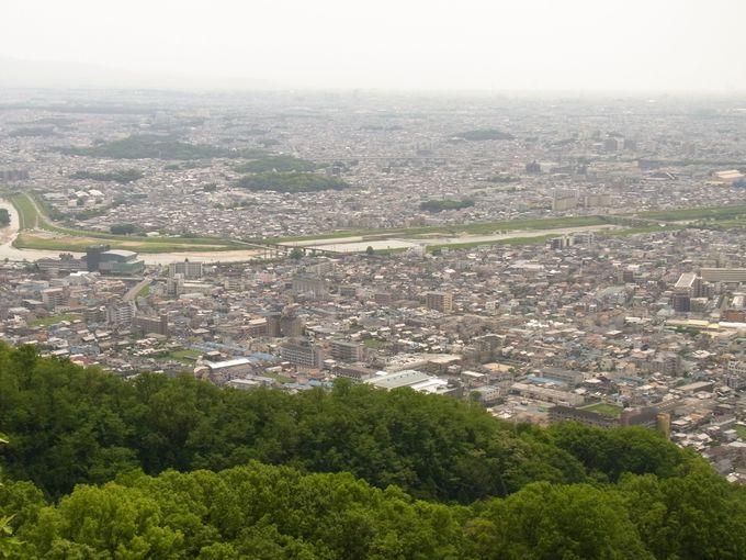 高尾山磐座から高井田山へ