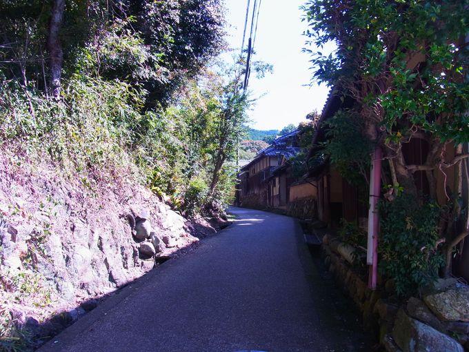 竹内街道の面影を色濃く残す山田集落