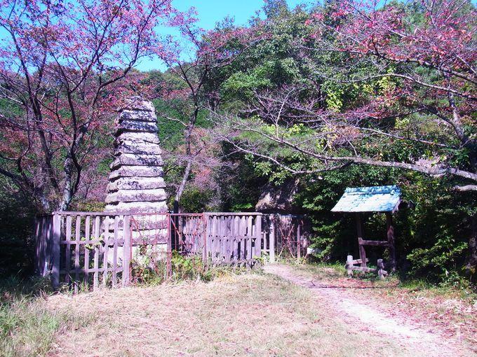 古代からの石切場にある鹿谷寺跡