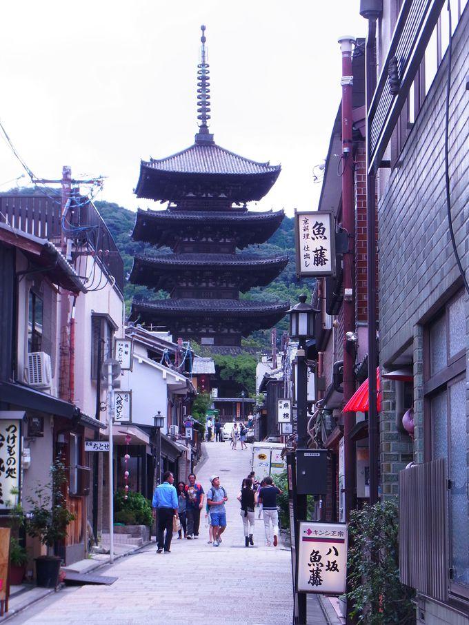 京都でもっとも古い寺院と八坂の塔