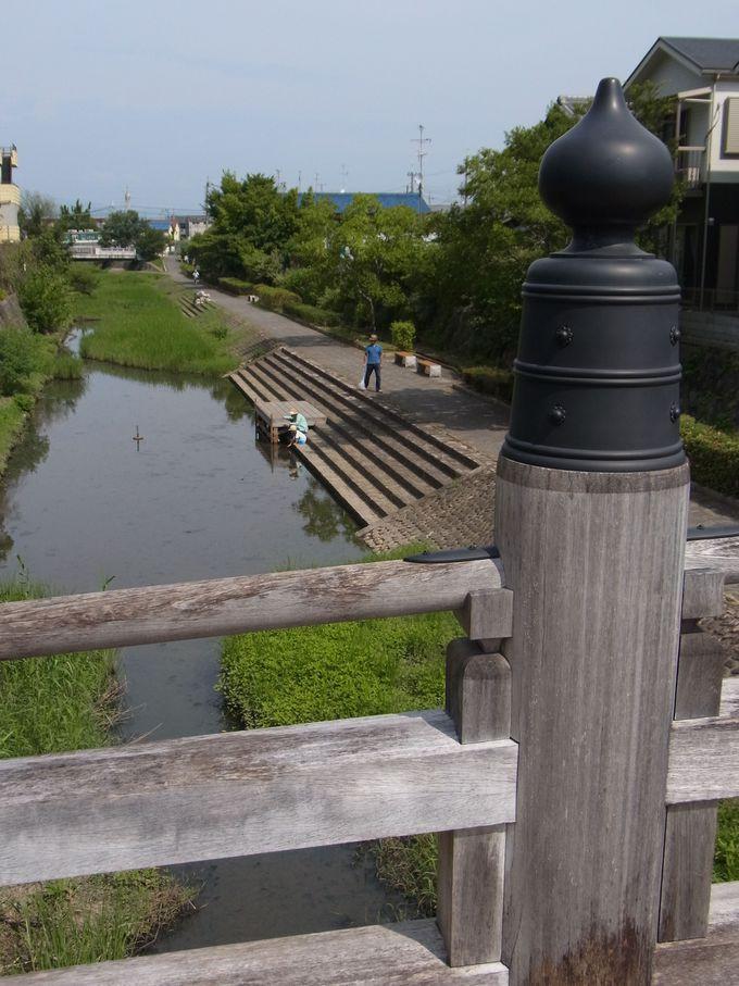 江戸時代・八幡八景のひとつだった安居橋