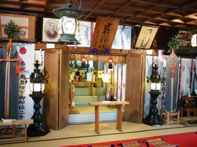 建勲神社は信長公ゆかりの神社。