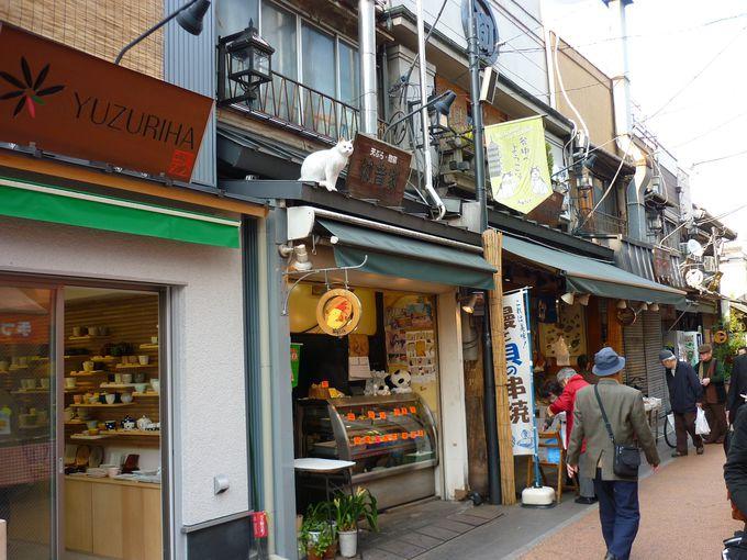 谷中銀座は商店街。