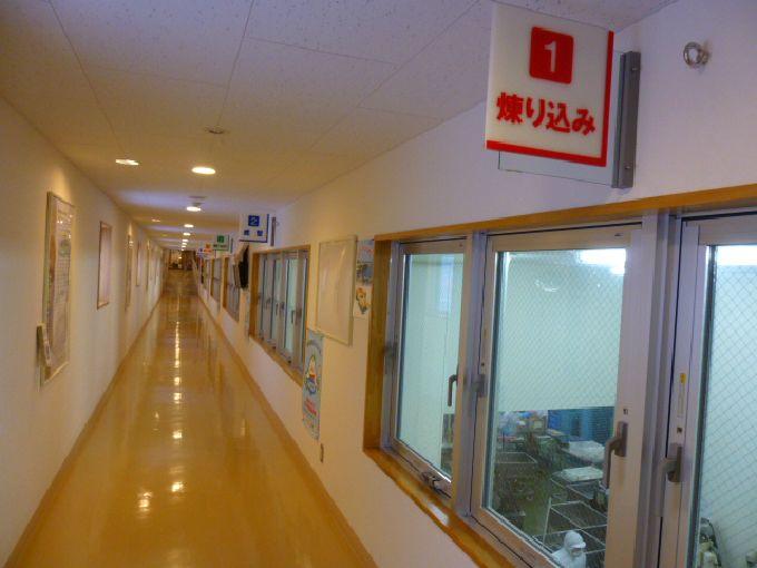 工場見学は2階から